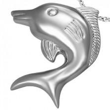 Medál sebészeti acélból - méretes ezüst halacska