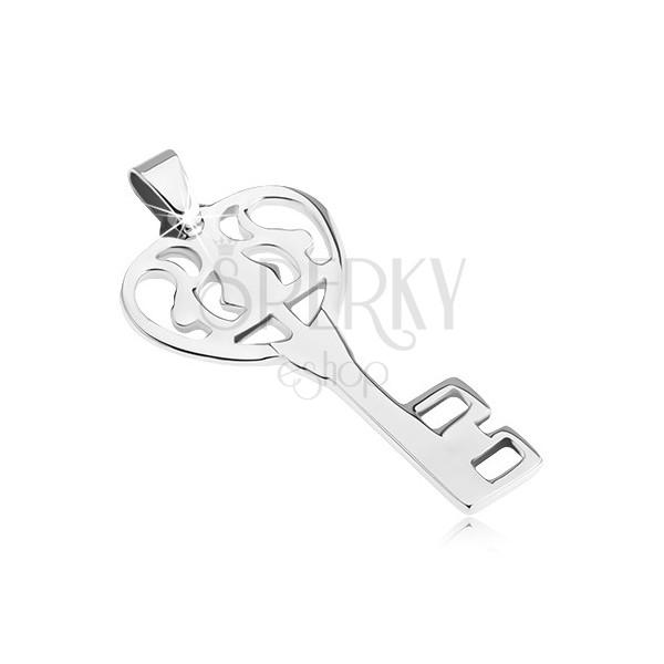 Medál minőségi acélból - fényes díszes kulcs a szívhez