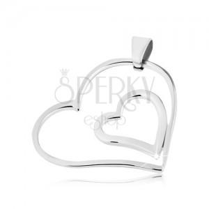 Medál acélból - összekapcsolt szívek