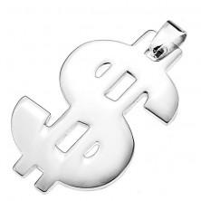 Medál minőségi acélból - fényes dollár szimbólum