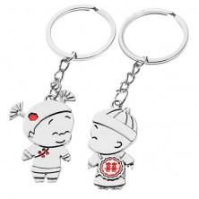 Kulcstartó szett - kisfiú és kislány, kínai ornamentumok