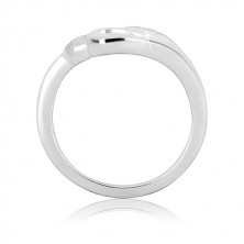 Ezüst gyűrű – három szív, beágyazott cirkóniák