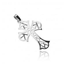 925 ezüst medál geometrikus kivágásokkal
