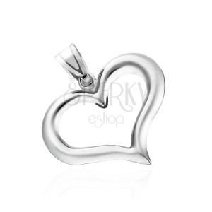 925 ezüst medál - szabálytalan szívkörvonal