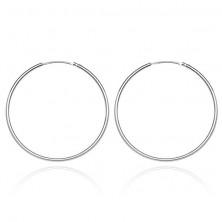 925 ezüst fülbevaló - vékony, finom karika, 22 mm
