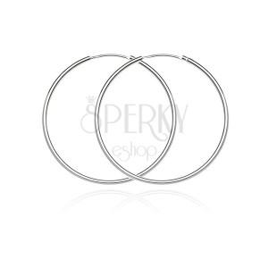 Karika fülbevaló 925-ös ezüstből - egyszerű, finom dizájn, 30 mm