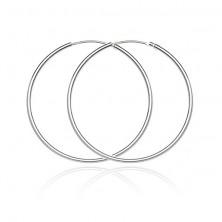 Karika fülbevaló 925 ezüstből - fényes és sima felület, 32 mm