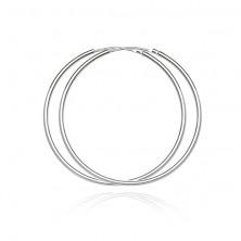 925 ezüst karika fülbevaló - fényes és sima felület, 55 mm