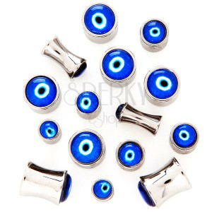 Nyereg alakú plug sebészeti acélból - az ördög szeme
