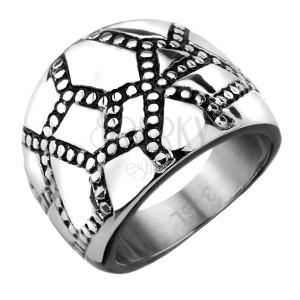 Orvosi acél gyűrű -  szabálytalan rácsozat