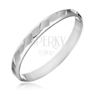 Gyűrű 925-ös ezüstből - fényes, csiszolt formák