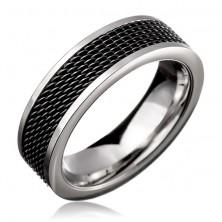 Gyűrű acélból - fekete hálós szerkezet