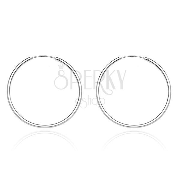 Karika fülbevaló 925 ezüstből - keskeny és sima dizájn, 20 mm