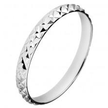 Csillogó ezüstgyűrű - kis piramisok