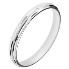 925 ezüst gyűrű - labirintust alkotó bevágások