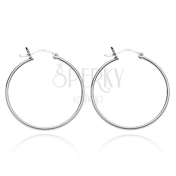 Karika fülbevaló 925 ezüstből - egyszerű dizájn, 20 mm