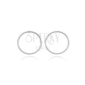 Ezüst fülbevaló - vékony és sima karika, 10 mm