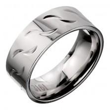 Karikagyűrű acélból - hullám minta