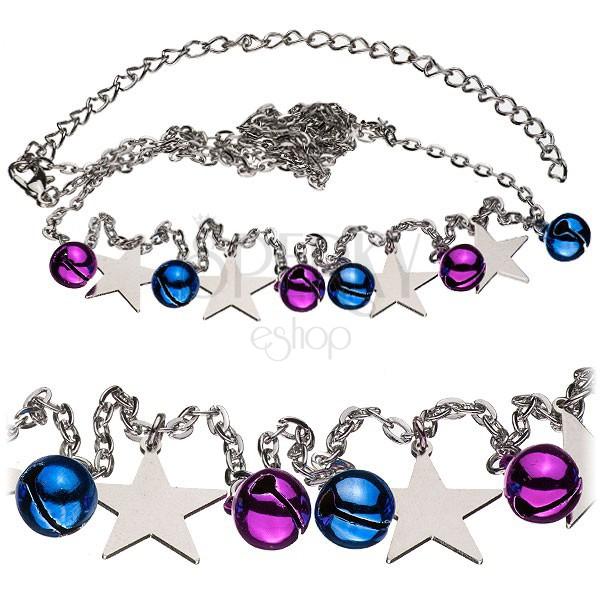 Derék lánc - színes csengők és csillagok