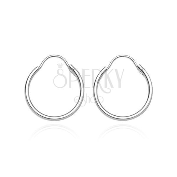 Fülbevaló 925 ezüstből - fényes karika, 12 mm