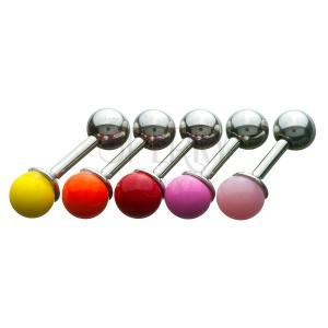 Tragusz piercing - színes gömb fejecske
