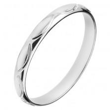 925 ezüst karikagyűrű - gravírozott magocskák