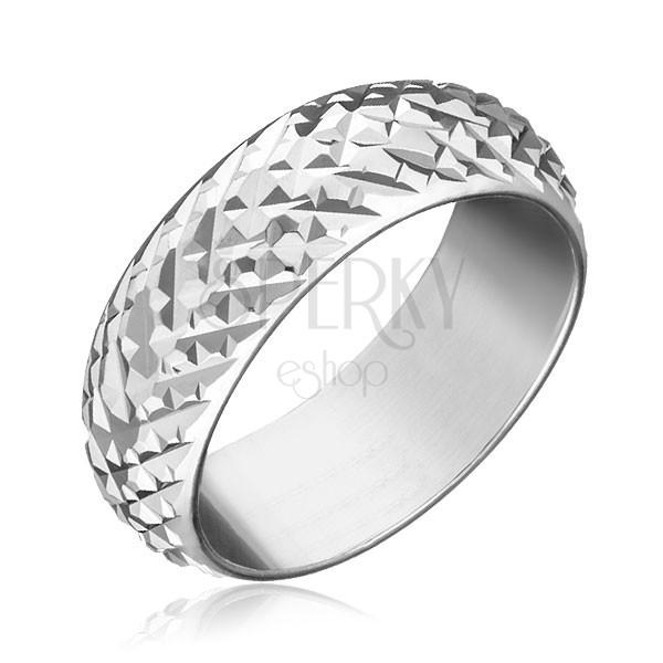 Gyűrű 925 ezüstből - fényes piramisok