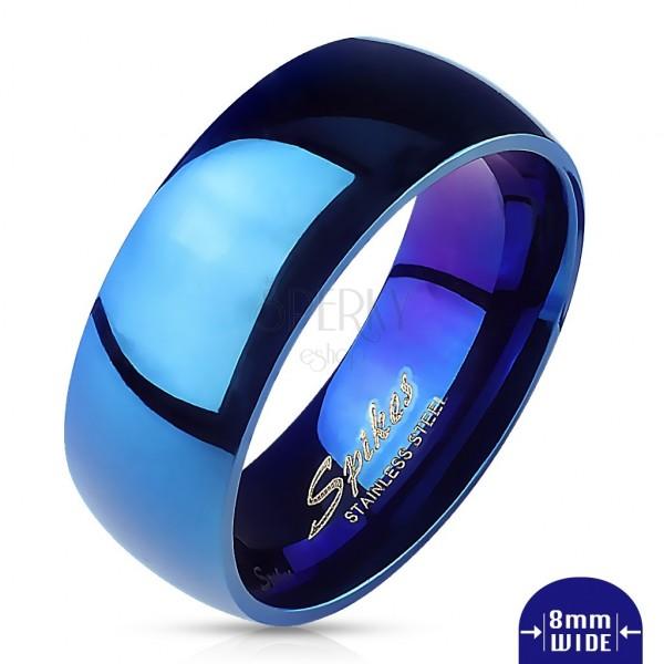 Kék karikagyűrű orvosi acélból