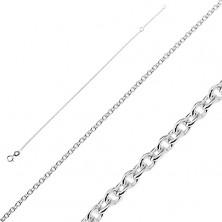 Sterling ezüst karlánc - kis kerek láncszemek