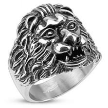 Hatalmas acél gyűrű - ororszlánfej