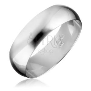 Ezüst karikagyűrű - sima és fényes felület