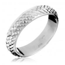 Sterling ezüst gyűrű - kiemelkedő fényes piramisok