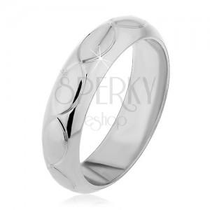 Gyűrű 925 ezüstből - búzaszem alakú bemarások