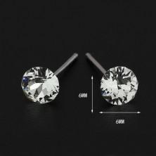 Ezüst bedugós fülbevaló - tiszta SWAROVSKI kristály