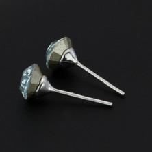 925 ezüst fülbevaló - halványkék SWAROVSKI kristály