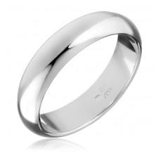 Sterling ezüst gyűrű - sima, enyhén domború felület