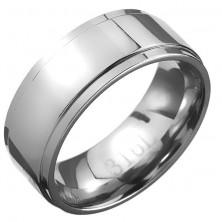 Nemesacél karikagyűrű - sima felület, kiemelkedő széles sáv