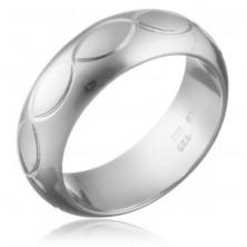 Gyűrű 925 ezüstből - gravírozott ovális minta