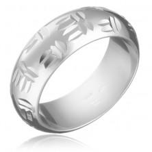 Ezüst gyűrű - indián minta, dupla bevágások