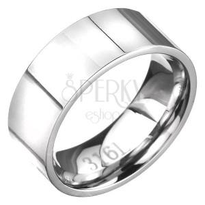 Egyszerű nemesacél gyűrű ezüst színben