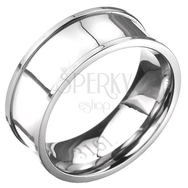 Acél gyűrű - fényes felület, magasabb szegélyek
