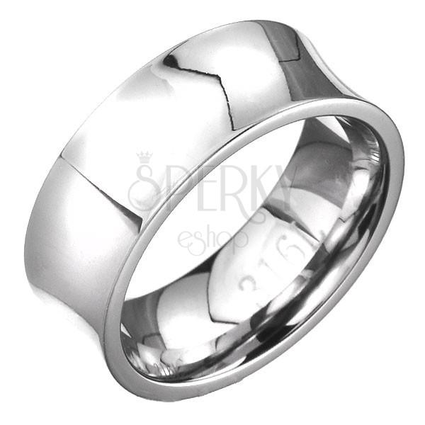 Minőségi acél gyűrű - tükörfényes felület, nyereg forma