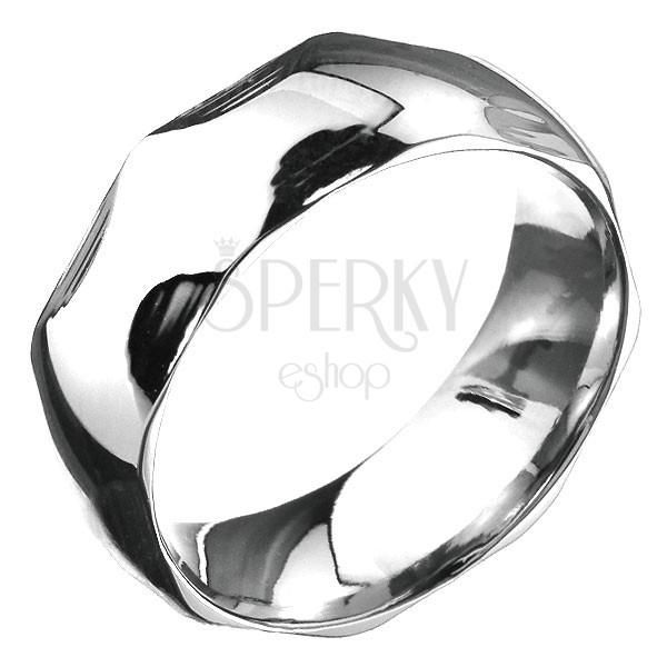 Minőségi acél gyűrű - domború felület félkör bemarásokkal