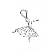 Sterling ezüst medál - balett táncosnő