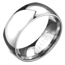 Acél karikagyűrű - domború, tükörfényes felület