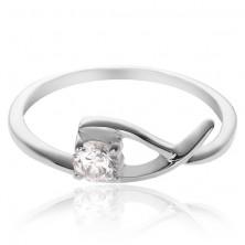 Gyűrű 925 ezüstből - finom hurok tiszta cirkóniával