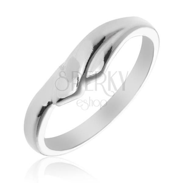 Gyűrű 925 ezüstből egymást átfedő szárakkal