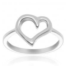 925 ezüst gyűrű - szabálytalan szívkörvonal