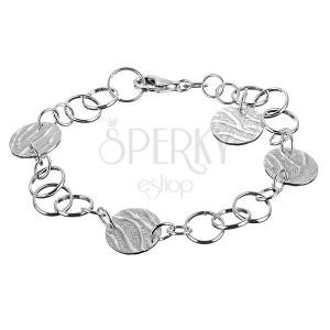 Karkötő ezüstből - tigrismintás karika függők
