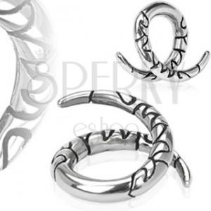 Fültágító sebészeti acélból - tekert forma, ornamentumok